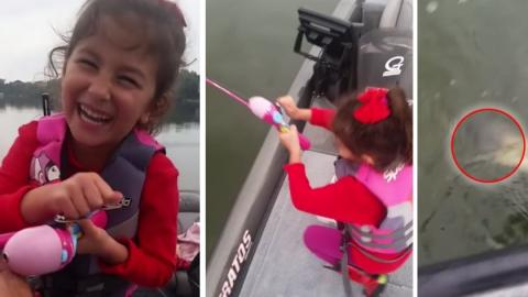 This Little Girl Ended Up Catching Something Enormous