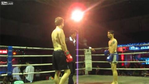 This Aussie Tourist Challenged A Professional Thai Boxer To A Match... And Soon Regretted It