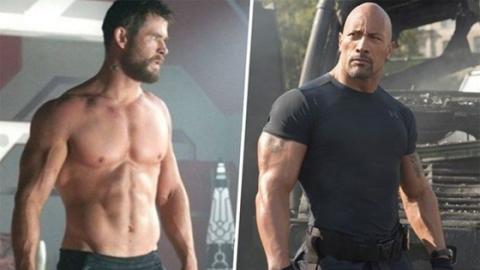 Chris Hemsworth Trolls Dwayne Johnson On His Work Out