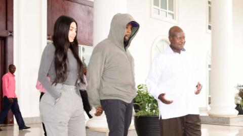 Kim And Kanye Presented The President Of Uganda With A Very Unusual Gift