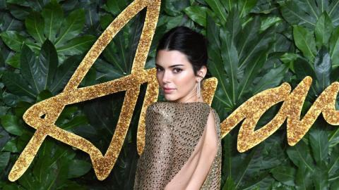 Kendall Jenner Teases In A Transparent Dress At The 2018 Fashion Awards