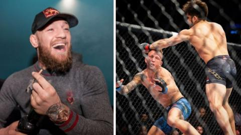 Conor McGregor Reacts To Cejudo And Dillashaw's UFC Brooklyn Fight