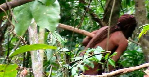 This Incredible Footage Shows The Last Remaining Member Of An Amazonian Tribe
