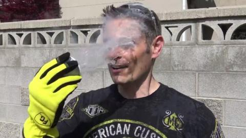This Guy Throws Liquid Nitrogen In His Face For A Bizarre Science Experiement
