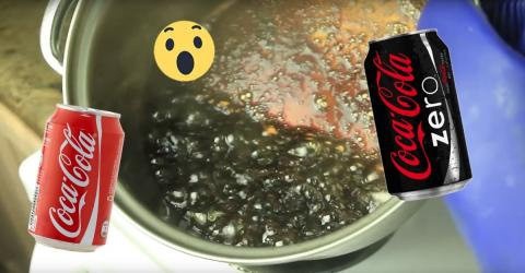 This Experiment Shows The Shocking Difference Between Coke and Coke Zero
