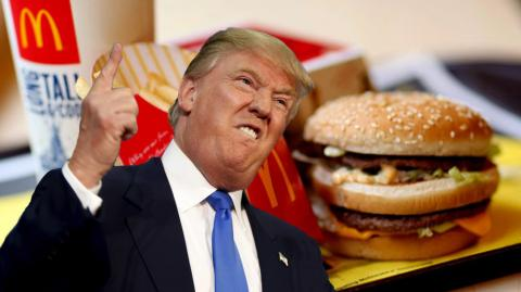 We Now Know What President Donald Trump Orders When He Goes To McDonald's - And It's A Lot