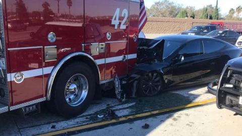 Tesla: Model S Car On Auto-Pilot Slams Into A Stationary Fire Engine
