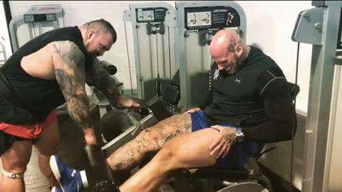 When Martyn Ford Dared To Do Leg Day With Eddie Hall