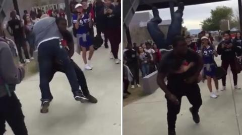 This Security Guard Tried To Break Up A Fight, But He Wasn't Expecting This...