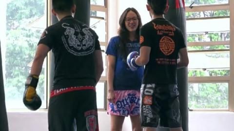 This Muay Thai Pro Walks Into The Gym Claiming She's A Beginner... And Absolutely Wrecks Everyone!