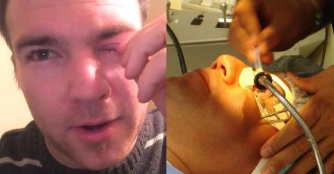 Doctor Discovers Something Horrible Hiding Behind This Man's Eye