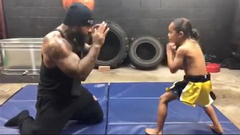 This Fighter Is Training His Son To Become A True Warrior