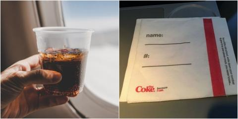 Coca-Cola Sparks Outrage And Confusion After Flight Passengers Were Served With 'Creepy AF' Napkins