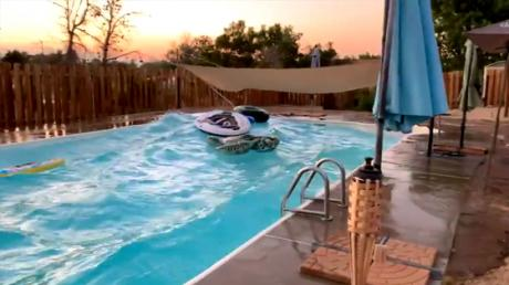 Have You Ever Wondered What Happens To A Swimming Pool During An Earthquake? (Video)