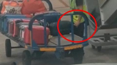 This Ibiza Baggage Handler Was Caught Doing Something Terrible