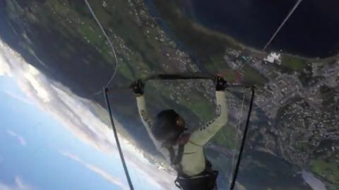 His Hang Glider Shattered Mid Flight... What Happened Next Was Unbelievable