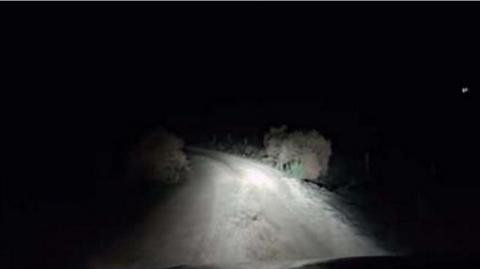 He Was Driving Late At Night When Something Terrifying Came At His Windscreen