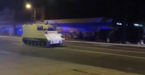 Soldier steals an army tank and goes on a rampage in a 2 hour police chase