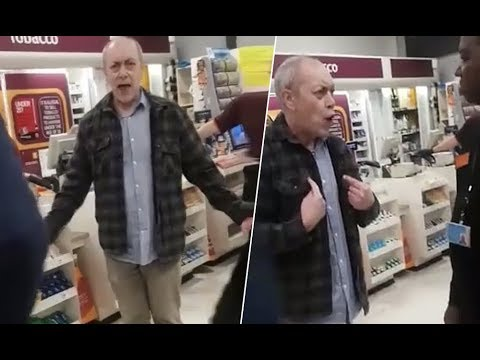Racist Shopper Throws Abuse At A Security Guard, But The Guard's Reaction Puts Him To Shame