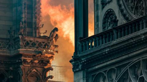 People Are Freaking Out About This 'Figure' In The Flames Of Notre Dame