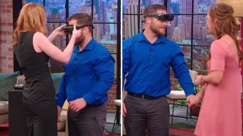 This Blind Man Sees His Girlfriend For The First Time... And His Reaction Stuns Everyone