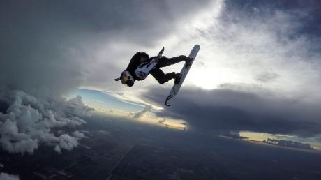 Watch This Snowboarder Take An Incredible 'Sky Jump' In The Middle Of A Storm