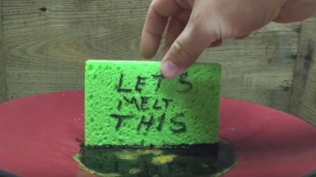 When He Dips This Sponge In Sulphuric Acid, The Reaction Is Astonishing