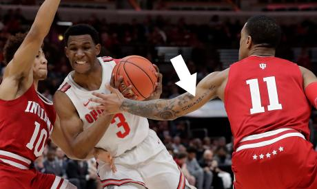 This Basketball Player Has The Most Unexpected Tattoo Hidden On His Arm