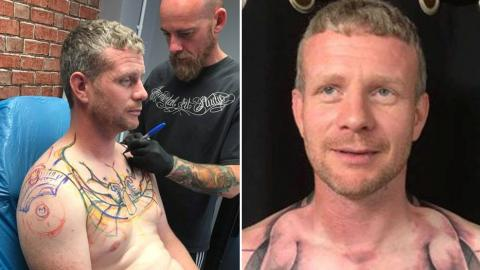 This Lorry Driver Has Gone Viral Thanks To His Bizarre New Tattoo