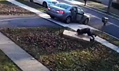 Pesky Thief's Hilarious Attempt At Stealing TV Was Caught On Camera