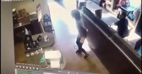 A literal shit storm: one woman lost the plot in a busy coffee shop
