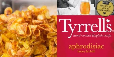Tyrrell's Are Launching A Limited Edition Flavour Of  'Aphrodisiac' Crisps Just In Time For Valentine's Day
