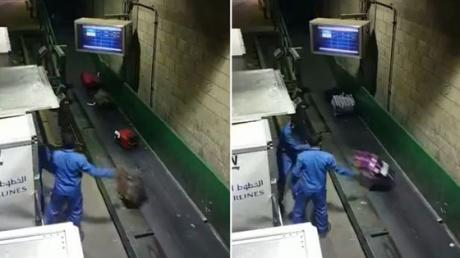 These Baggage Handlers Were Caught On Camera Doing Something Shocking