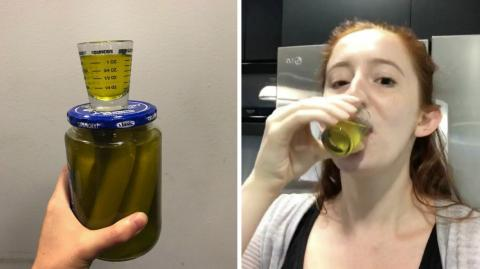 See What Happens When She Drinks Pickle Juice Every Day For A Week