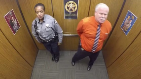 CCTV Cameras Captured the Hilarious Moment a US Sheriff was Caught Dancing in a Lift