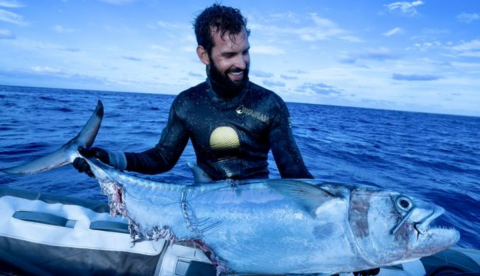 One Man Battles Three Sharks in an Epic Showdown Over a Huge Fish
