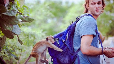 Monkey Steals A Man's Phone And Takes A Bunch of Selfies With It [VIDEO]