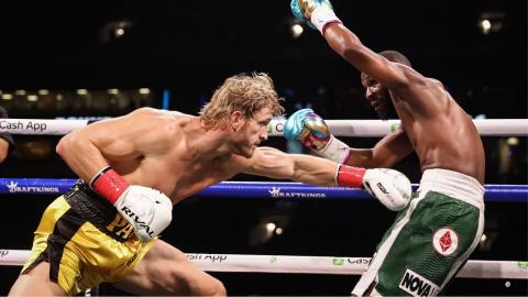 Logan Paul frustrates Floyd Mayweather and goes the distance