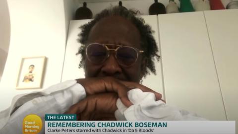 Chadwick Boseman's co-star Clarke Peters breaks down on GMB