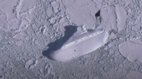 Google Earth user sparks conspiracy theories after discovering a 400ft 'ice ship' in Antarctica