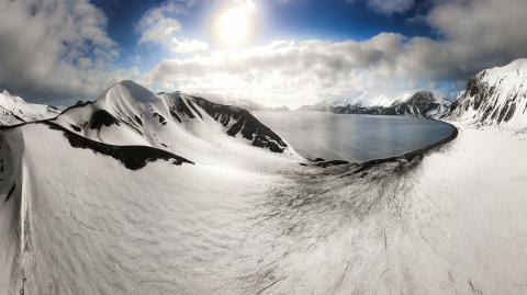 This Is how Deception Island was formed in Antartica