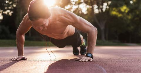 This is the proper way to do push-ups