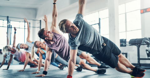 You can work your abs and quads with a single static exercise