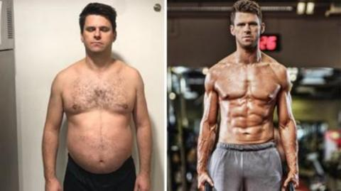 He lost 65 pounds in 6 months following one simple routine