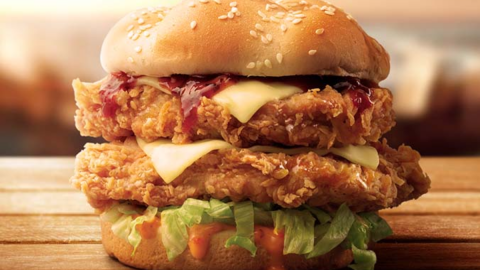 KFC Is Selling Half Price Zinger Stacks for This Weekend Only!
