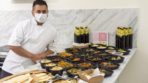 An Indian restaurant has set up a whopping 114 item takeaway that takes 10 days to eat