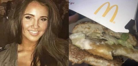 This McDonald's customer made a chilling discovery in her McChicken