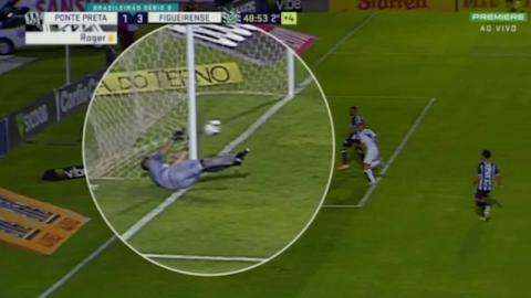 A Brazilian Goalkeeper Used His Net To Stop The Ball (VIDEO)