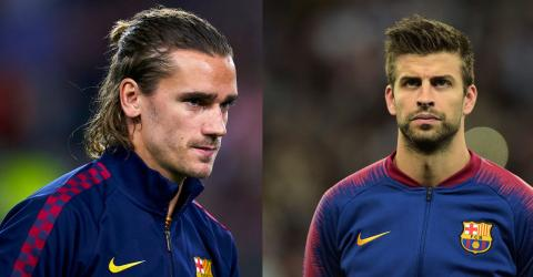 'We Don't Play For Him': Piqué Speaks Out About Griezmann's Struggles At Barcelona