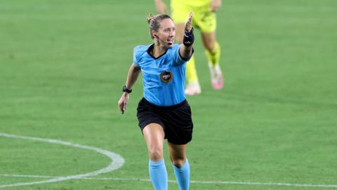 A woman referee was violently assaulted during an amateur football match